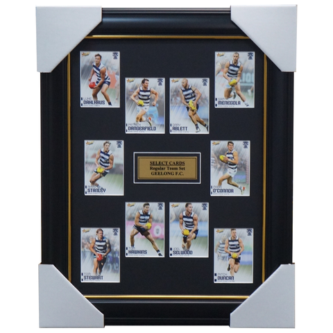 Geelong Cats 2020 Select Card Set Framed Selwood Ablett Jnr. Dangerfield - 4002