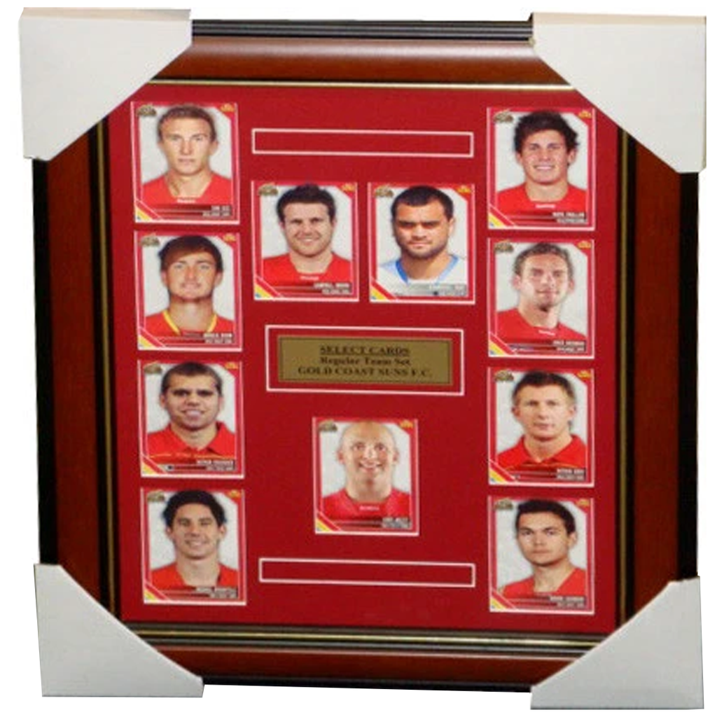 Gold Coast Suns 2011 Select Cards Complete Set Framed - 3271