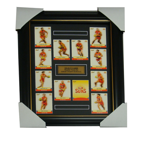 Gold Coast Suns 2013 Select Cards Set Framed includes Ablett and Bennell - 1250