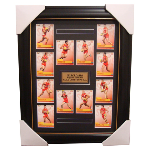 Gold Coast Suns 2014 Limited Edition Select Cards Set Framed - Ablett Bennell - 1711