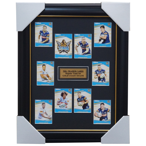 2020 NRL Traders Cards Gold Coast Titans Team Set Framed Taylor Proctor Brimson - 4022