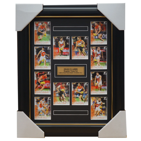 Greater Western Sydney 2018 Select Card Team Set Framed Cameron Ward Greene - 3361