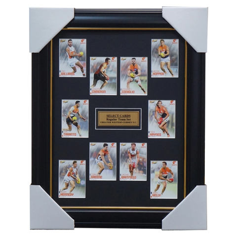 Greater Western Sydney 2020 Select Afl Card Set Framed - 4007