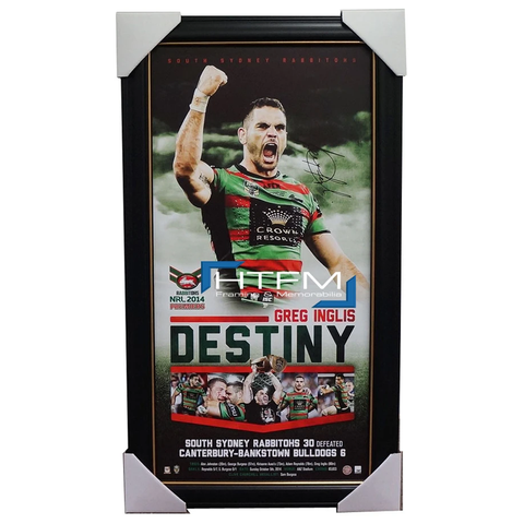 Greg Inglis Signed 2014 Premiers South Sydney Rabbitohs Destiny Print Framed - 2035