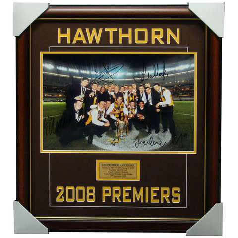 Hawthorn 2008 Premiers Multi-Signed Photo Framed Inc Hodge, Franklin - 1177