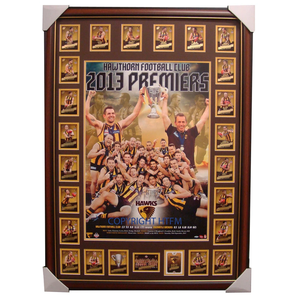Hawthorn 2013 Premier Print Framed with Official Premiers Card Set - 1621