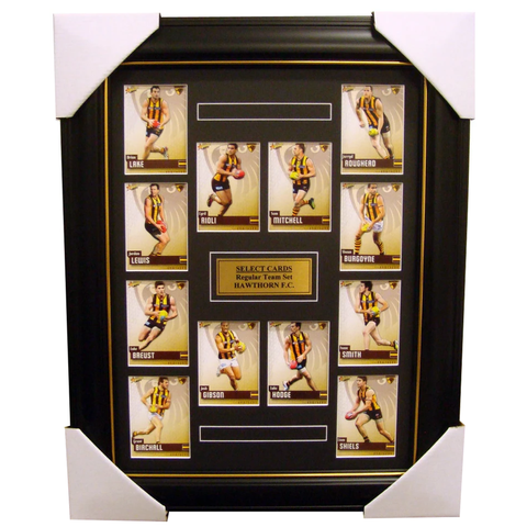 Hawthorn 2014 Limited Edition Select Cards Set Framed - Hodge, Rioli, Mitchell - 1698
