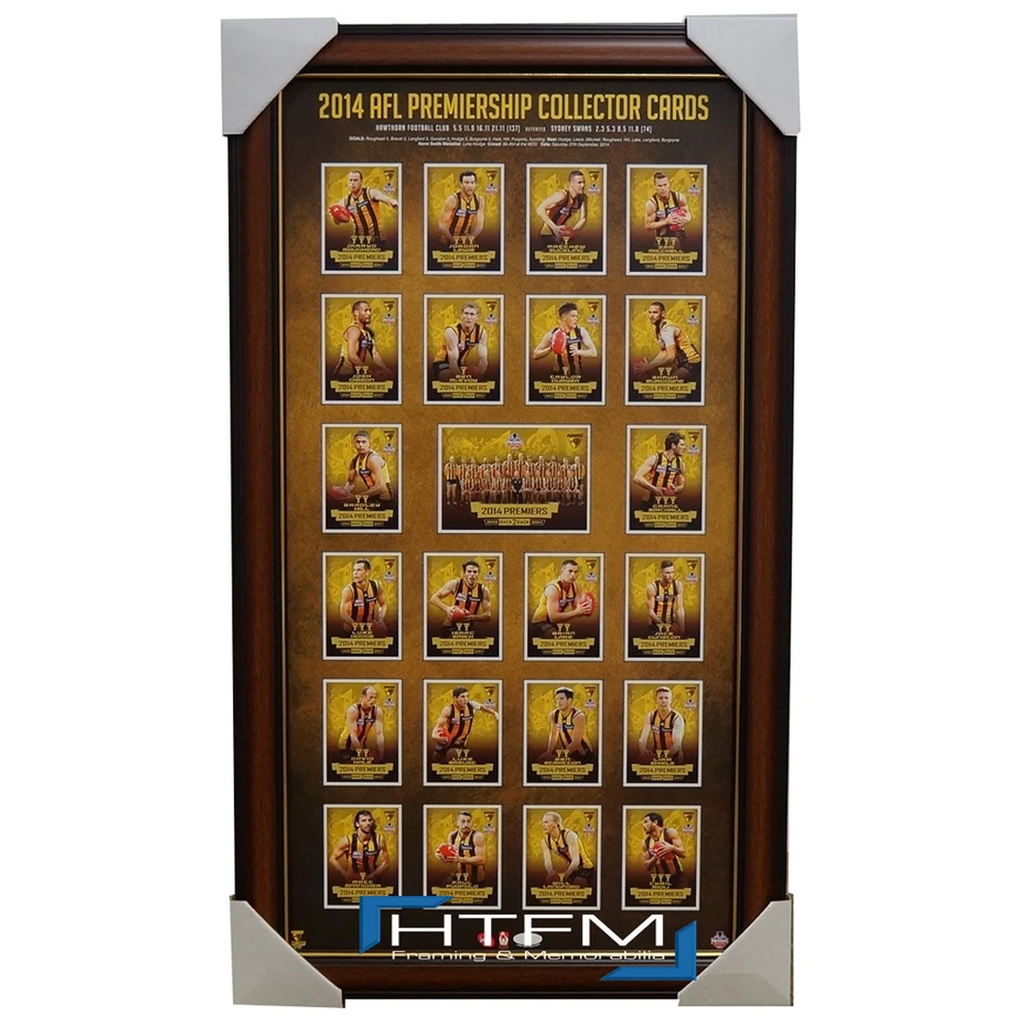 Hawthorn 2014 Premiers Official Afl Select Card Print Framed L/e 200 Only Hodge - 2064