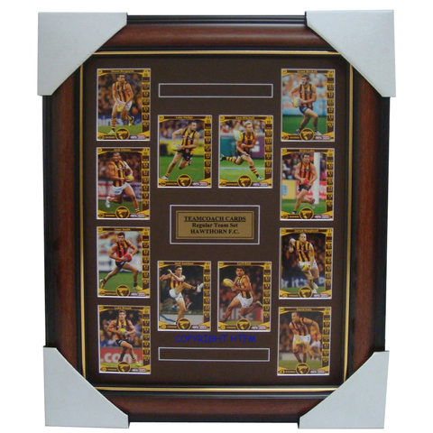 Hawthorn 2014 Teamcoach Limited Edition Cards Set Framed  Hodge, Rioli, Mitchell - 1722