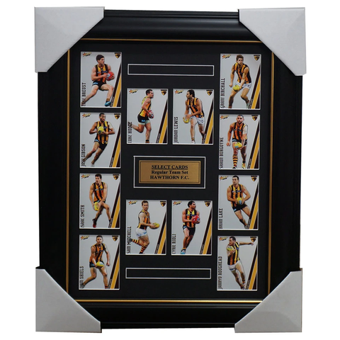 Hawthorn 2015 Select Card Team Set Framed Luke Hodge Mitchell Rioli Lewis Shiels - 1016