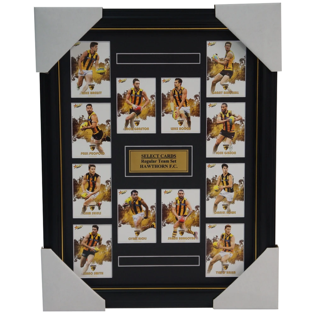 Hawthorn 2017 Select Card Team Set Framed Hodge Rioli Gunston Puopolo Gibson - 3059