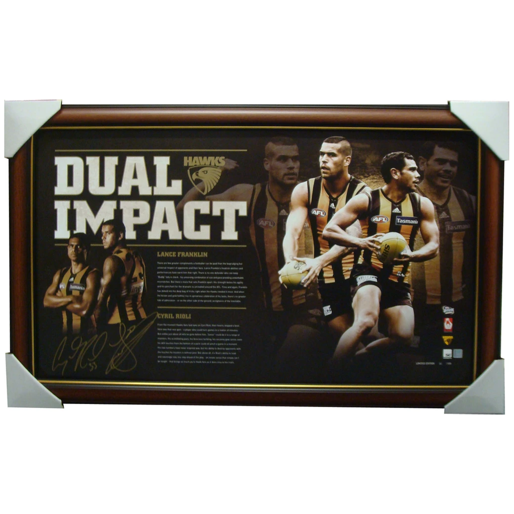 Hawthorn Dual Impact Signed Franklin & Rioli Official Print Framed - 1330
