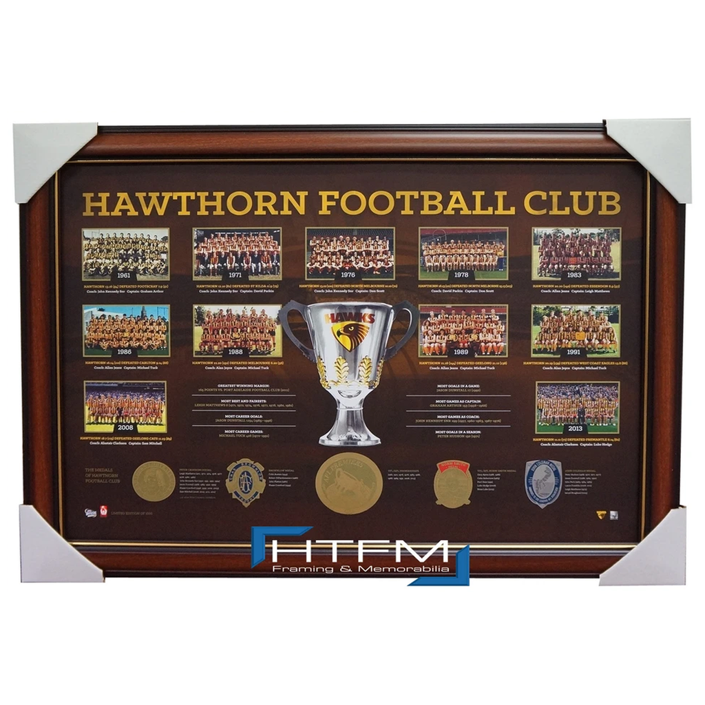 Hawthorn Historical Series Premiership AFL Licensed Print Framed - 1894