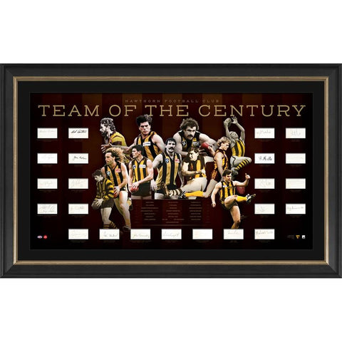 Hawthorn Team of the Century Signed Lithograph Official AFL Print Framed - 4394