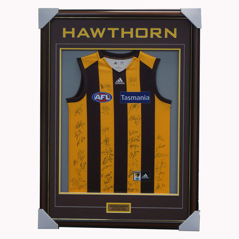 Hawthorn Football Club 2020 AFL Official Team Signed Guernsey Framed - 4137