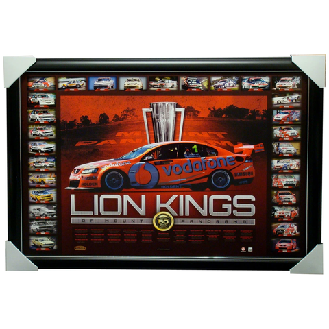 Holden Bathurst Lion Kings 50 Years of Mount Panorama L/E Print Framed - 1123