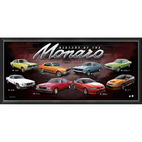"Holden ""History of the Monaro"" Limited Edition Official Print Framed - 4399"