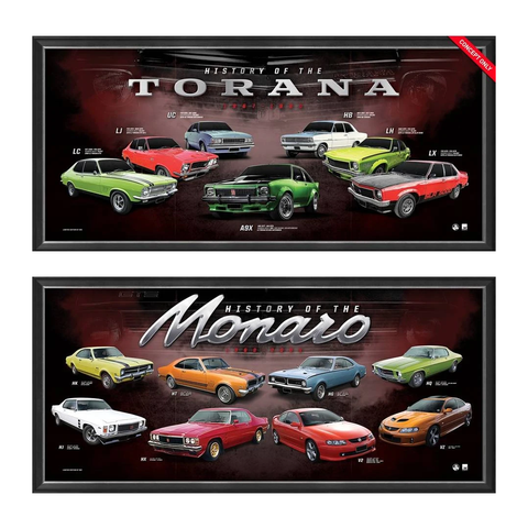 Holden Package Official Print Framed History of the Monaro & Torana - 4463