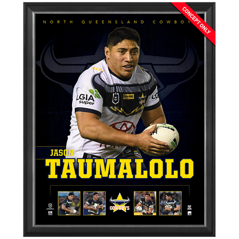 Jason Taumalolo North Queensland Cowboys Official Nrl Player Print Framed New - 4375