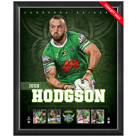 Josh Hodgson Canberra Raiders Official Nrl Player Print Framed New - 4376