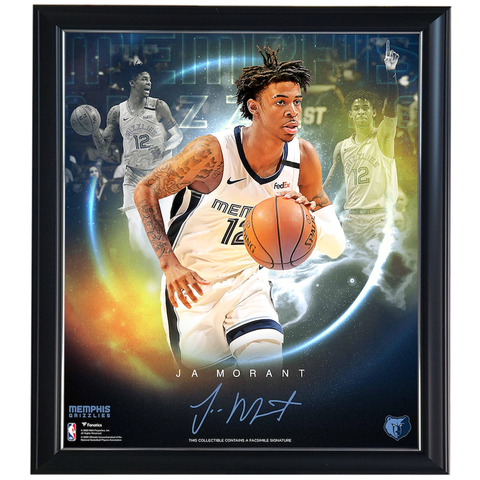 Ja Morant Memphis Grizzlies Facsimile Signed Official Nba Print Framed - 4418