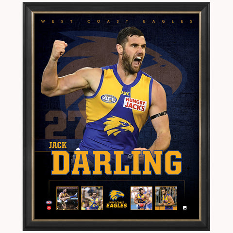 Jack Darling West Coast Eagles Official AFL Print Framed NEW - 4382