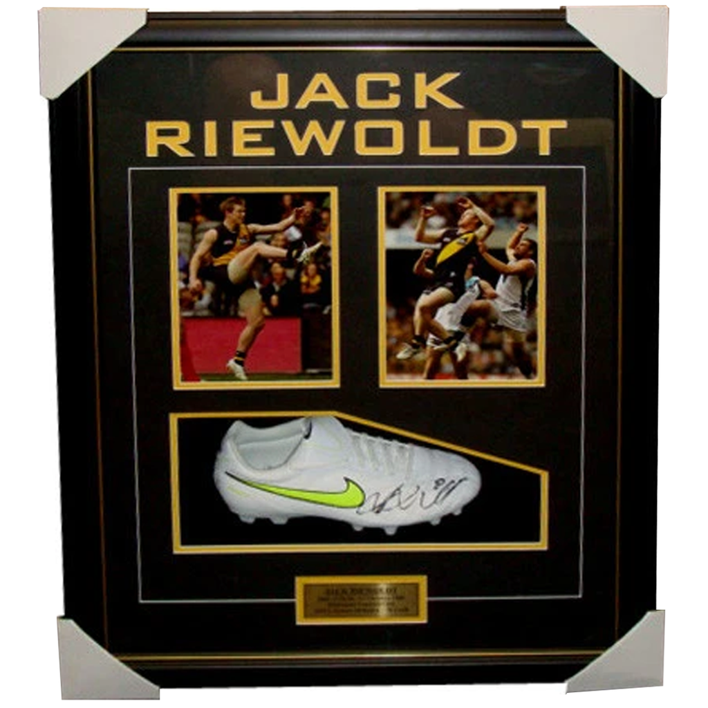 Jack Riewoldt Richmond Signed Boot Box Framed Collage - 3869