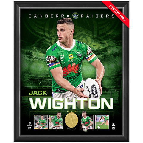 Jack Wighton Canberra Raiders 2020 Dally M Official NRL Player Print Framed - 4591