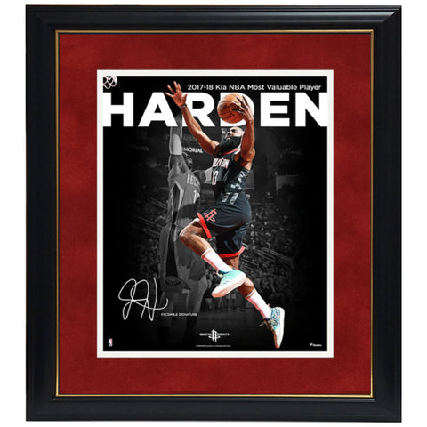 "James Harden Houston Rockets Fanatics Authentic Framed 11"" X 14"" 2018 Nba Mvp Spotlight Photograph - Facsimile Signature Frame - 4585"