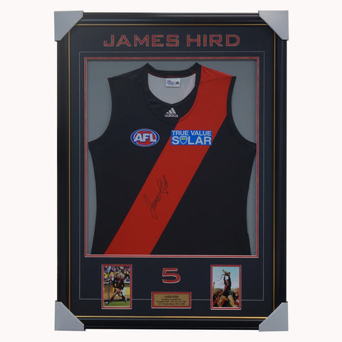 James Hird Essendon Signed Jumper Framed with Photos - 4538