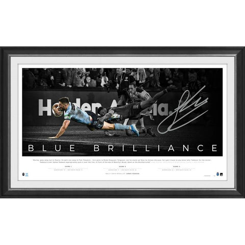 James Tedesco Signed New South Wales State of Origin Blues Brillance Official Nrl Print Framed - 4335