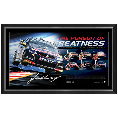 Jamie Whincup Signed Holden The Pursuit of Greatness V8 Supercars Champion Print Framed - 2534