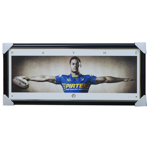Jarryd Hayne Parramatta Eels Official Nrl Wings Print Framed L/e 200 Only - 3537