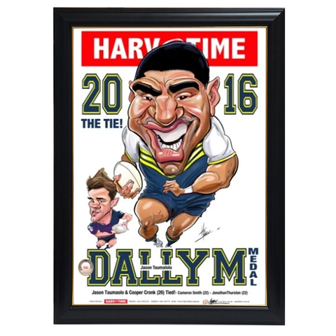 Jason Taumalolo, 2016 Dally M, Harv Time Print Framed - 4126