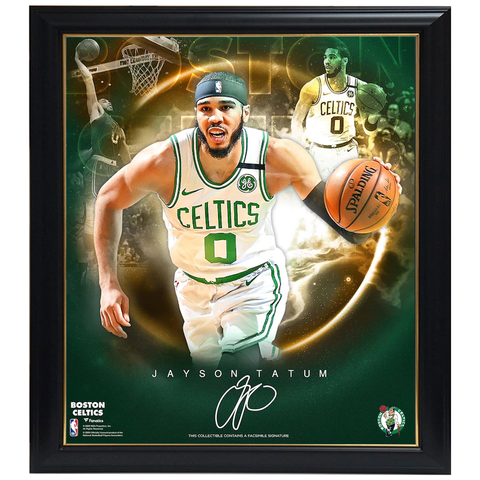 Jayson Tatum Boston Celtics Facsimile Signed Official NBA Print Framed - 4403