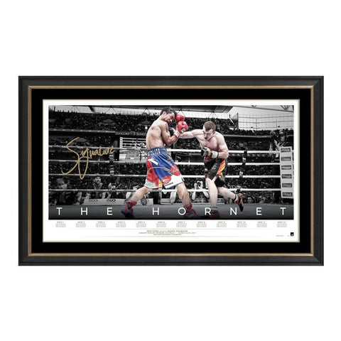 "Jeff Horn Signed Official Boxing Print Framed ""The Hornet"" - 4460"