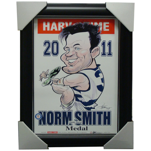 Jimmy Bartel 2011 Norm Smith Geelong Harv Time Limited Edition Print Framed - 1477