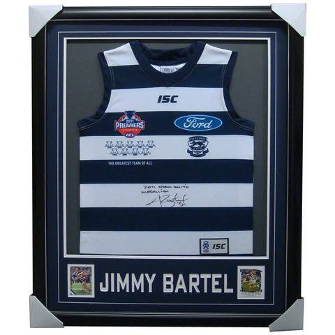 Jimmy Bartel Geelong 2011 Premiers Signed Jumper Framed - 3997