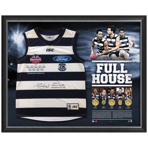 Jimmy Bartel signed 300 Game Limited Edition 2011 Premiers Full House Jumper Framed - 2916