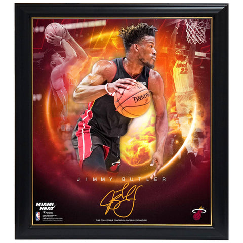 Jimmy Butler Miami Heat Facsimile Signed Official NBA Print Framed - 4468