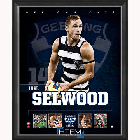 Joel Selwood Geelong F.C. Official Licensed AFL Print Framed NEW - 3708