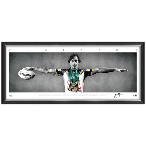Johnathan Thurston Signed Mini Wings North Queensland Cowboys NRL Print Framed - 3285 FREE SHIPPING