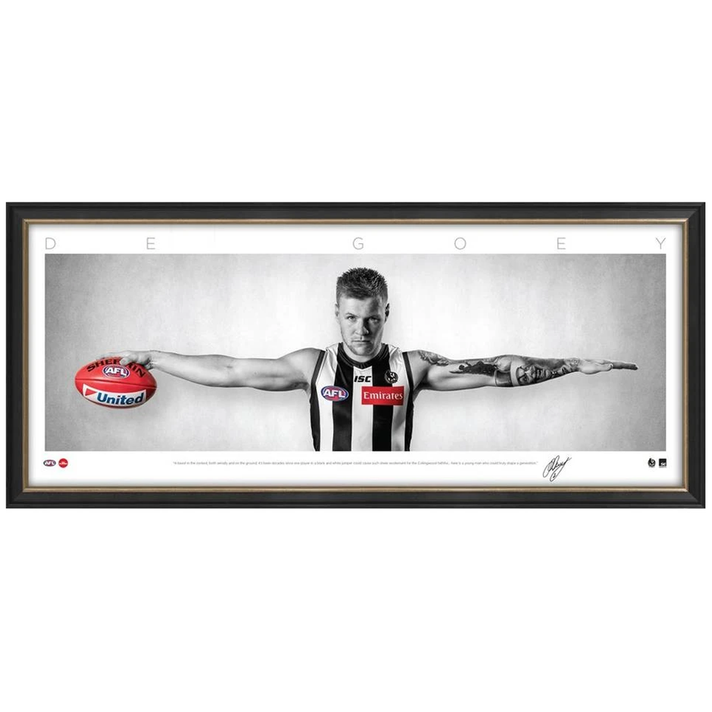 Jordan De Goey Collingwood Mini Wings Official Afl Print Frame - 3761