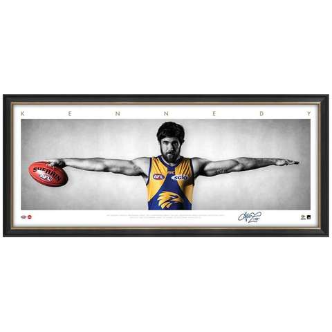 Josh Kennedy Signed West Coast Eagles Mini Wings Official AFL Print Framed  NEW - 3254