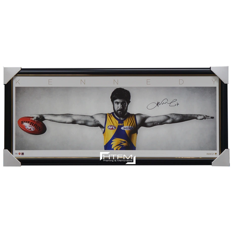 Josh Kennedy Signed West Coast Eagles Official AFL Wings Print Framed - 3417