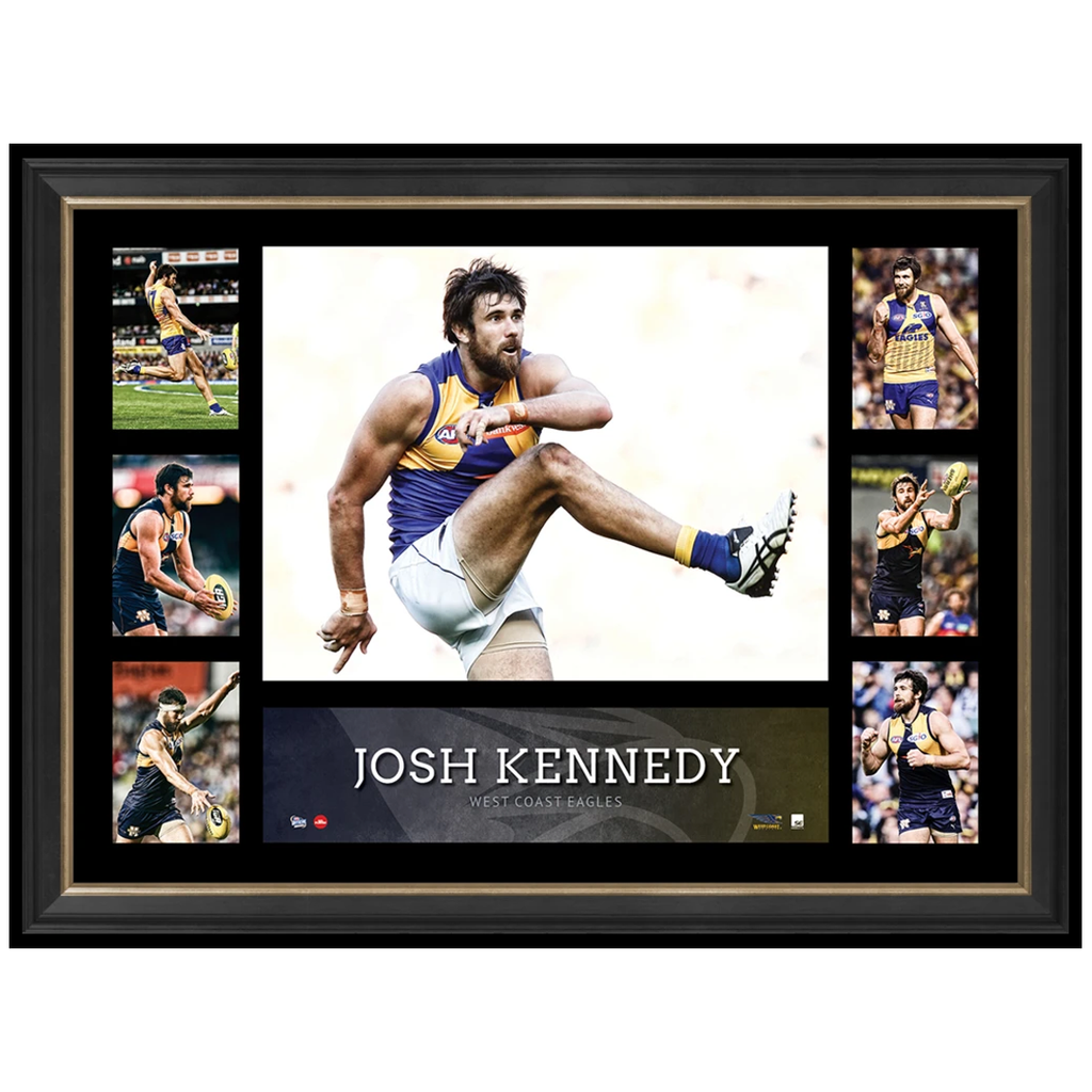 Josh Kennedy West Coast Eagles Unsigned Super Frame Afl Print Official Collage Framed - 2896