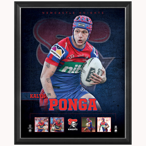 Kalyn Ponga Newcastle Knights Official Nrl Player Print Framed New - 4491