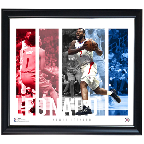 Kawhi Leonard LA Clippers Player Panel Collage Official NBA Print Framed - 4415