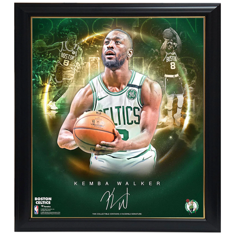 Kemba Walker Boston Celtics Facsimile Signed Official NBA Print Framed - 4405