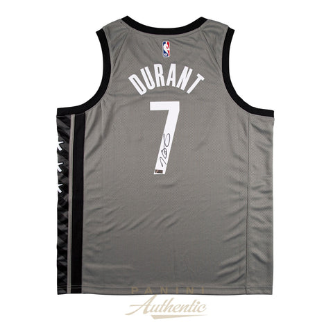 Kevin Durant Signed Grey Brooklyn Nets #7 NBA Official Panini Authentics Jersey - 4603